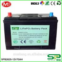 Deep cycle 12V 70Ah Lithium battery replacement lead acid battery for solar home use