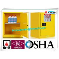 Quality Single Door Fireproof Paint Storage Cabinets With Grounding Wire Connector for sale