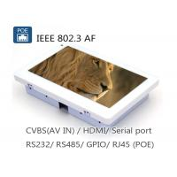 Quality 7 Inch IEEE802.3af POE Touch Panel PC With RJ45 RS485 RS232 Camera for sale