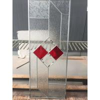 Quality zinc caming bevel glass panel of new design for sale