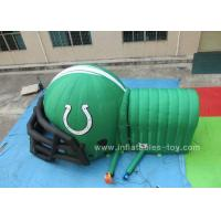 China Customized Inflatable Sports Games , Inflatable football helmet with tunnel on sale