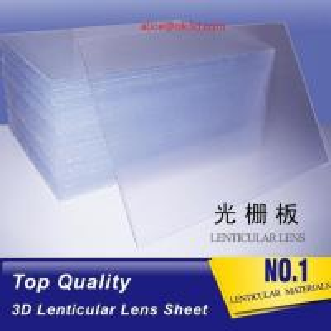 Quality 3D Plastic Lenticular Lens Sheet 20 LPI flip lenticular effect thickness 3 mm for flip effect on digital printer for sale