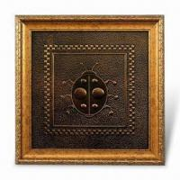 China 3-D Relievo Painting, Made of PU Leather, Ideal for Homes and Business Places Decoration on sale