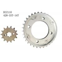 Quality BIZ110 Motorcycle Chain And Sprocket Kit 33t-14t Metal Material Longer Usage Time for sale
