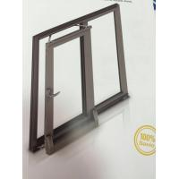 Quality Thermal Break Tilt and Sliding Aluminium Window Profiles with Brown Color for sale