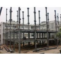 China 5 Floor Steel Frame for High Rise Office Building With Grey Paint and Steel Deck on sale