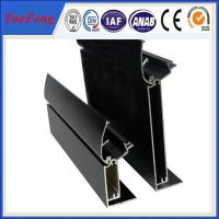 Quality Durable aluminum alloy for menu light box profile with black anodizing for sale