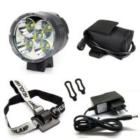 Quality 7000 Lms Super Bright Rechargeable 8800mAH 5 CREE T6 LED Bike Light Lamp for sale
