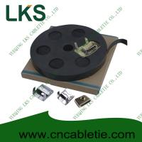 China LKS-CB Series PVC Coated Stainless Strapping Band with Screw Buckle and Banding tools on sale