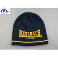 Quality Women's Knitted Beanie Hats / Caps With Front Custom Printed Logo SGS / UL for sale