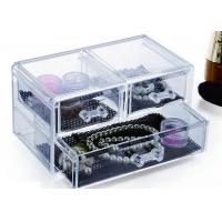 3 Drawers Acrylic Display Holders , Makeup Jewellery Organizer Box