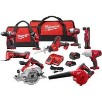 China Milwaukee 2695-29CX Power Tool Combo Kit M18 18-V Cordless Drilling Driving Cutting Grinding 9Tool on sale