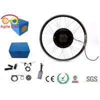 Quality 1000W Electric Bike Wheel Motor Kit With Blue Naked Lithium Battery for sale