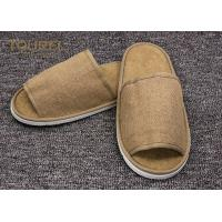 Quality Disposable Close Toe Hotel Room Slippers / Disposable Travel Slippers for sale
