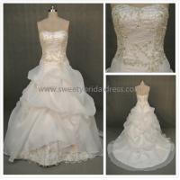 Quality Ball Gown Sweetheart Embroidery Beading Organza Wedding Dress LT5223 for sale