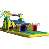 Quality Custom Inflatable bouncy castles obstacle course , Bouncy Assault Course CE / EN14960 for sale