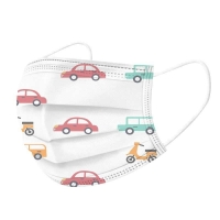 Quality Cute Cartoon Earloop 3 Ply Non Woven Mask For Kids for sale