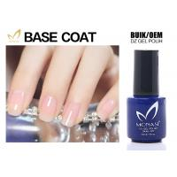 Quality SGS Approved Uv Gel Base Coat , Clear Base Coat For Training School Chemical Free for sale