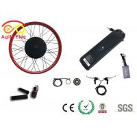 Quality Durable Fat Tire Electric Bike Conversion Kit With Axle Front 135mm / Rear 170mm for sale