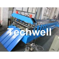 Quality Metal Roofing Sheet Cold Roll Forming Machine with Hydraulic Post Cutting for sale