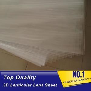 Quality 100lpi 0.58mm PET lenticular sheet 3d lenticular plastic film lenticular printing sheet lenticular sheet importer in usa for sale