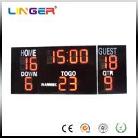 Quality 20 Inch Large Red Digits Electronic Soccer Scoreboard For Outdoor CE / ROHS for sale