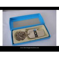 Quality custom wholesale shape cheap blank engraved metal lovers dog tags for sale