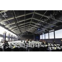 China Portable Large Clear Span Fabric Structures Black PVC Fabric Roof Cover on sale