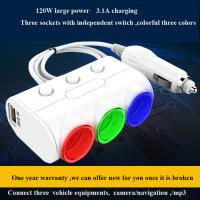 Buy Car Dual USB 2.1A 1A car Cigarette lighter socket Power Supply car Charger at wholesale prices