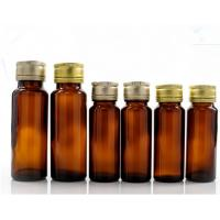 Quality Oral Liquid Syrup Pharmaceutical Medical Round Amber Glass Bottle With Lid for sale