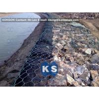 Quality Coastal Protection Gabion Mesh Boxes with Double Twisted Hexagonal Wire Mesh for sale