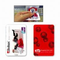 Quality 1-Euro Coin Cards, Made of ABS Plastic Material, with CMYK Designs for sale