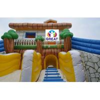 Buy high quality large inflatable water slide with  pool  with warranty 48months  GTWP-1636 at wholesale prices
