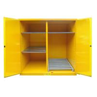 Quality Flammable Drum Storage Cabinets , Gasoline Storage Cabinets 2 Door For Oil Tank Drum for sale