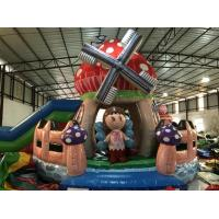 Quality New Designs Kids Inflatable Bounce House With Slide Beautiful Inflatable Mushroom Jump House for sale