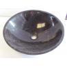 Portor Gold Marble Bath Simple Round Sink Stone Wash Basin for sale