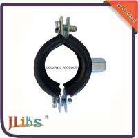 Quality Zinc Plated Cast Iron Pipe Clamps With Rubber And M8 / M10 Nut And Plastic Anchor for sale