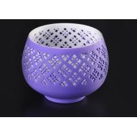 China graceful hollow out ceramic votive candle holder wholesale fit solid candle on sale