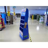 Buy 4-shelf POP Cardboard Displays blue for candy / chocolate at wholesale prices
