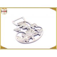 Quality Ladies Bag Hollowed Custom Stamped Metal Logo Tags High Class Patterned for sale