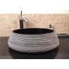 Black Granite Stone Bath Sink High Polish Natural Stone Sink For Hotel for sale