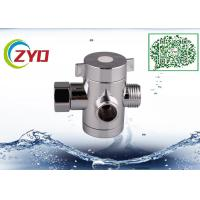 Buy cheap 1/2 Malex1/2Malex1/2Female Bathroom Three Way T-adapter Chrome Finish Water from wholesalers