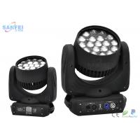 Quality RGBW 4 in1 Zoom Wash LED Beam Moving Head Light 12W * 19pcs Cool White for sale