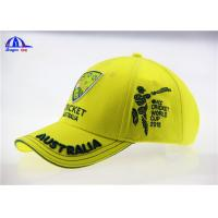 Quality Yellow Brushed Cotton Breathable Custom Baseball Caps with 3D Embroidery Logo for sale