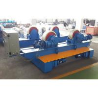 Quality Bolt Adjustment Movable Pipe Welding Rollers , 20 T Capacity Pipe Supports Stands for sale