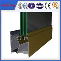Quality Hot! 98% pure alloy 6063 aluminium extrusion profile maked aluminum residential doors for sale