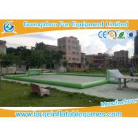 Quality Plato PVC Tarpaulin Green Inflatable Football Pitch , Inflatable Bubble Football Field for sale