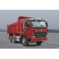 Quality Red Color Dongfeng 2nd Hand Tipper Trucks With 6x4 Drive EURO 3 Diesel Engine for sale