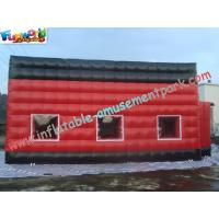 Quality Red Durable Inflatable Party Tent PVC Coated Nylon With Cube Design for sale