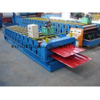 Quality Blue 5 M / Min Roof Panel Glazed Tile Roll Forming Machine With 18 Forming Station for sale